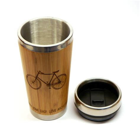 personalised wooden bicycle travel mug by maria allen boutique   notonthehighstreet.com