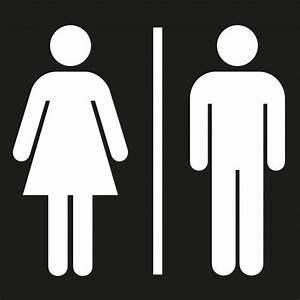 Sigle Homme Femme : adh sif pictogramme toilettes hommes femmes noir ~ Melissatoandfro.com Idées de Décoration