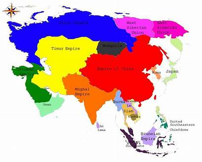 Asia Map Simple Pacific Names Country Maps