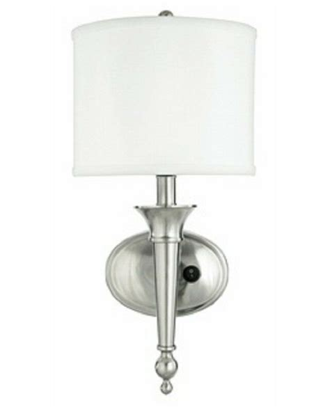 Bathroom Sconces Polished Nickel - brushed nickel in flurescent wall sconce with shade