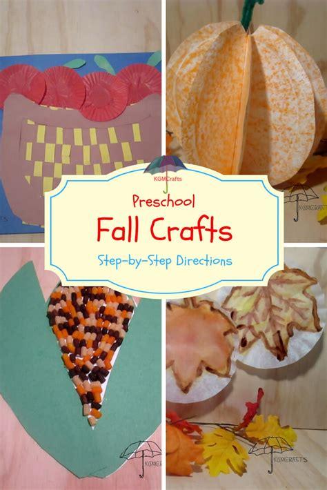 fall preschool crafts simple  fun