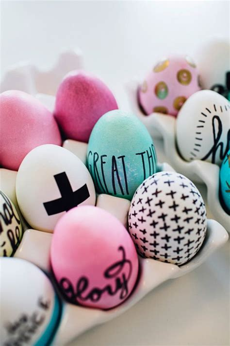 simple easter egg designs easter eggs decorated with sharpies look so cool and super easy too easter pinterest