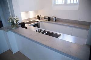 Arbeitsplatte aus beton 30 ideen fur oberflache in der kuche for Arbeitsplatte aus beton