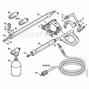 Stihl Re 118 Pressure Washer  Re 118  Parts Diagram  Spray Gun