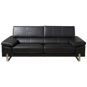 comparateur canapé canapé fixe 3 places roma coloris noir newden