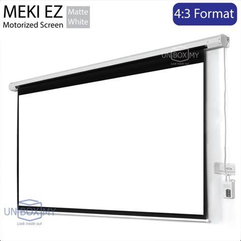roll projector screen meki ez motorized projection screen 4 3 unbox my 3178