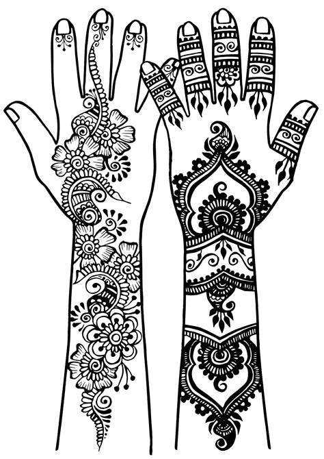 Arm and hand tatoo 3 - Tattoos Adult Coloring Pages