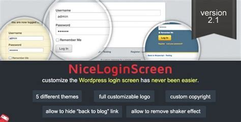 create   login page  wordpress powered website