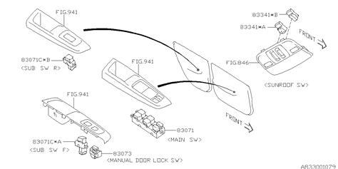 Genuine Subaru Switch Assy Power Window Usj
