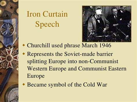 Iron Curtain Speech Cold War Definition by Hoye Cold War