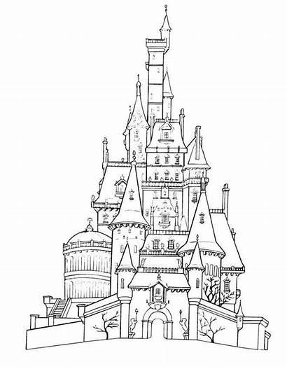 Pages Disneyland Coloring Cartoon Disney Land Printable
