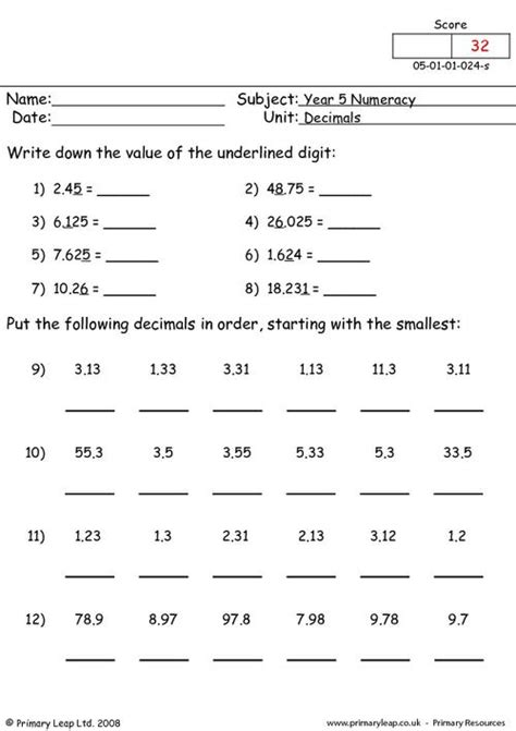 ordering decimals worksheets ordering decimal numbers
