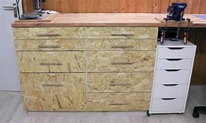 Vinylboden Auf Osb Platten : mehr stauraum f r die werkstatt mit schubladen aus osb platten builder 39 s cave ~ Watch28wear.com Haus und Dekorationen