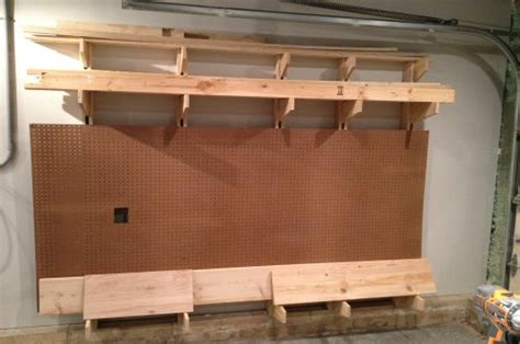 build  wall mounted lumber storage rack  project closer