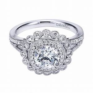 Vintage style engagement ring settings wedding promise for Vintage wedding ring settings