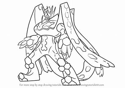 Pokemon Moon Sun Zygarde Draw Complete Coloring