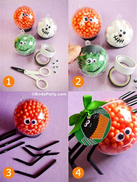 Halloween Kids Crafts  Diy Little Monster Candy Baubles