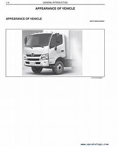 Hino 2015 Trucks 155  155h  195  195h With J05e Engine Set