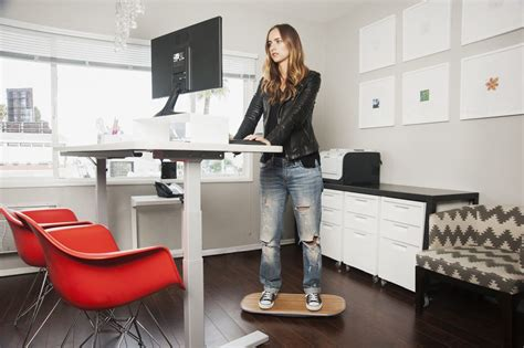standing desk balance board diy standing desk with balance board to ease neck