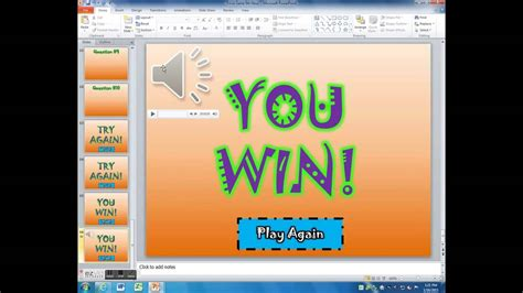 trivia powerpoint making sounds repeat   game