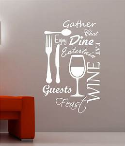 kitchen word cloud vinyl wall art quote sticker dining With kitchen colors with white cabinets with word wall art stickers