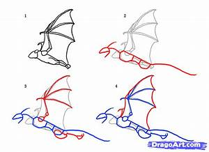 How to Draw Flying Dragons, Flying Dragons, Step by Step ...