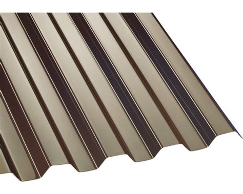 Polycarbonat Wellplatte Trapez 7618 Bronze 3500x1045mm