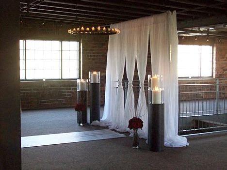 diy wedding altar so simple and elegant did someone say