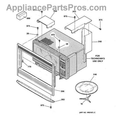 parts  ge jkpwaww microwave inclosurer parts appliancepartsproscom