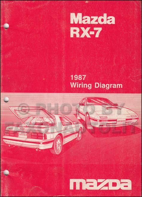 1987 Mazda Rx7 Wiring Diagram by 1987 Mazda Rx 7 Wiring Diagram Manual Original Rx7