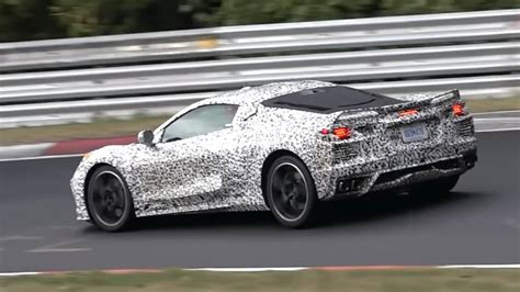 Watch A Camouflaged C8 Mid-engined Corvette Roar Around