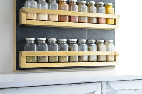 How To Make A Spice Rack Out Of Wood by Wooden Spice Rack Build Plans Houseful Of Handmade