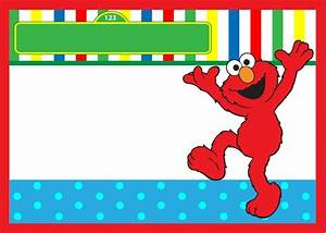 Elmo birthday invitation free template invitations online for Elmo template for invitations