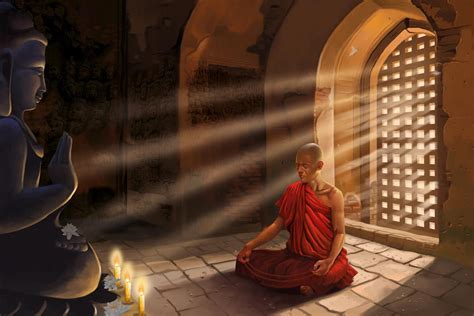 experience the peaceful minute with buddha wall murals and