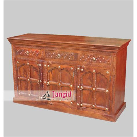 Indian Wood Sideboard by Handicraft Wooden Furniture Indian Wooden Living Room