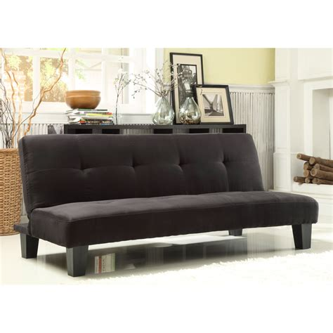 Mini Couches For by Homelegance Tufted Mini Sofa Bed Lounger Black Futons