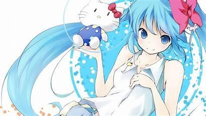 Anime Happy Miku Kitty Hello Hatsune Lovely