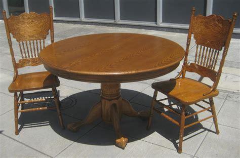 uhuru furniture collectibles sold oak pedestal dining