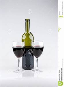 Two Glasses Of Red Wine Bottle Royalty Free Stock Images ...