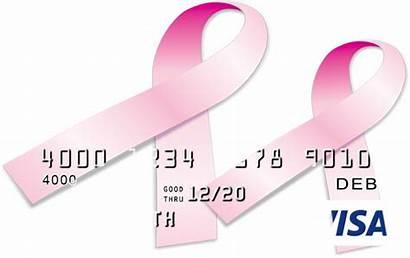 Card Awareness Cancer Pink Visa Ribbon Breast