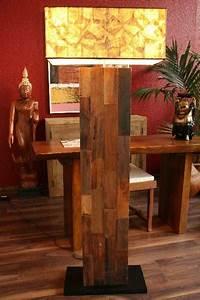 Designer Stehlampen Holz : stehlampe stehleuchte designer lampe massiv holz landhausstil ~ Indierocktalk.com Haus und Dekorationen