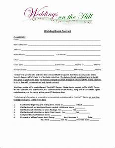 Party Planner Contract Sample Free 14 Wedding Contract Samples In Ms Word Pdf