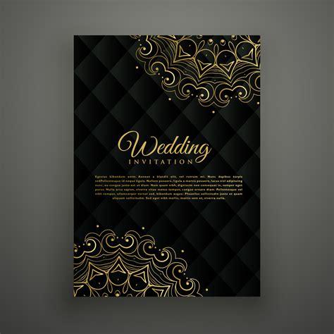 wedding card design in mandala style Download Free