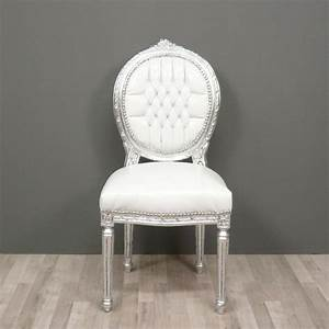 Chaise Medaillon Blanche : chaise louis xvi chaise baroque meuble baroque ~ Teatrodelosmanantiales.com Idées de Décoration