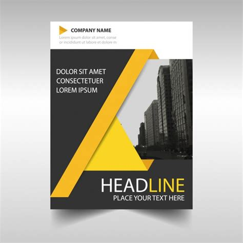 Yellow and black annual report book cover template Vector