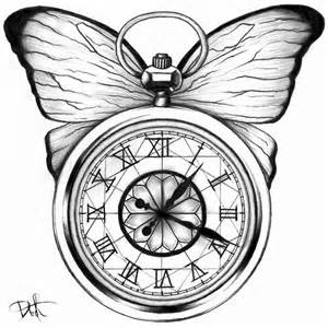 Pocket Watches Tattoos Drawings