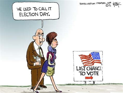 Election Day 2012 Political Cartoon - Final Vote ...