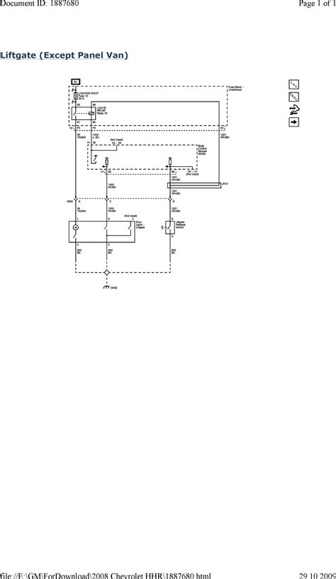 chevrolet hhr electrical diagrams wiring diagram for free