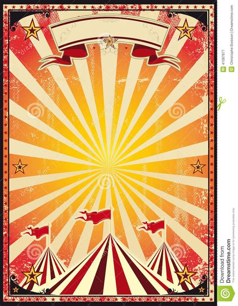 circus carnival posters red vintage circus background
