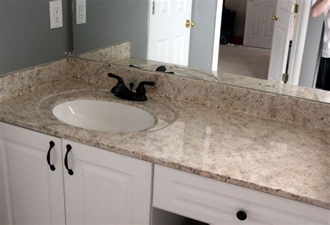 my enroute painted faux granite countertops master